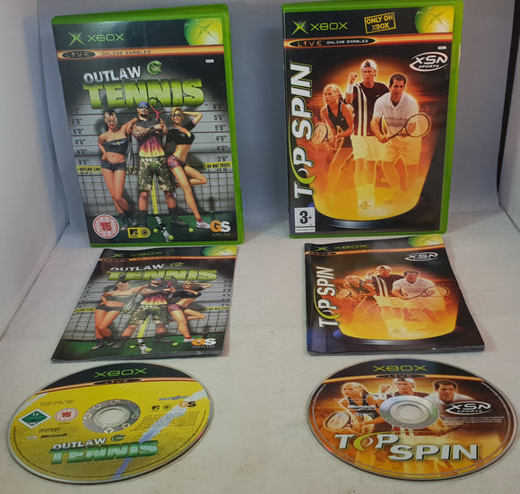Top Spin & Outlaw Tennis Microsoft Xbox Game Bundle