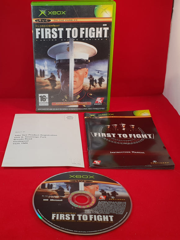 First to Fight United States Marines Microsoft Xbox Game