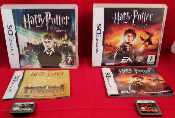 Harry Potter and the Goblet of Fire & The Order of the Phoenix Nintendo DS Game Bundle