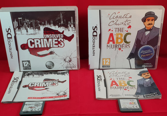 Unsolved Crimes & Agatha Christie the ABC Murders Nintendo DS Game Bundle