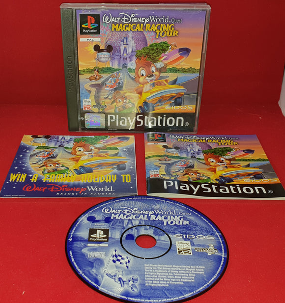 Walt Disney World Quest Magical Racing Tour Sony Playstation 1 (PS1) Game