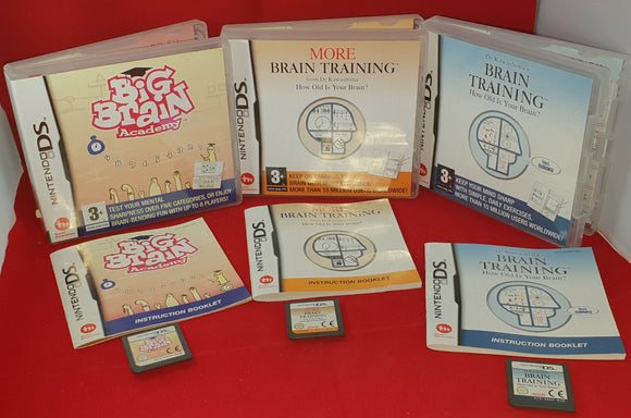 Brain Training, More Brain Training & Big Brain Academy Nintendo DS Game Bundle