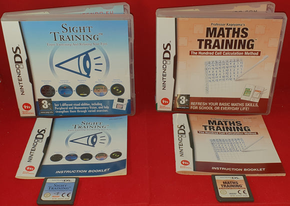 Sight Training & Maths Training Nintendo DS Game Bundle