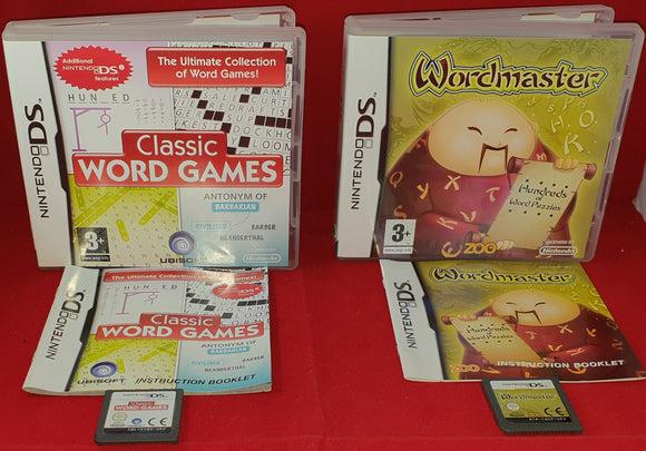 Classic Word Games & Wordmaster Nintendo DS Game Bundle