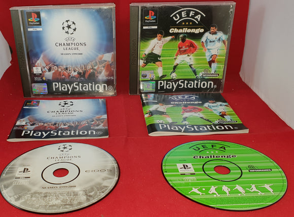 UEFA Challenge & UEFA Champions League Sony Playstation 1 (PS1) Game Bundle
