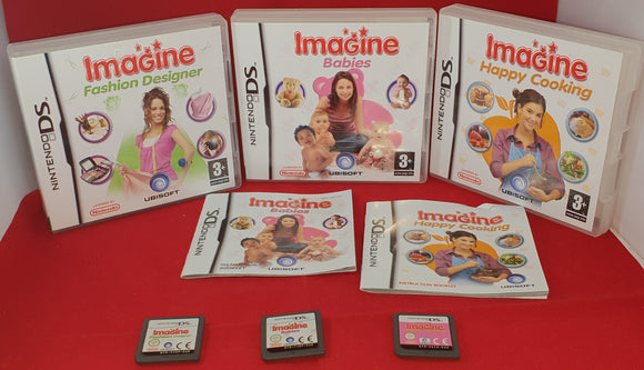 Imagine Happy Cooking, Babies & Fashion Designer Nintendo DS Game Bundle