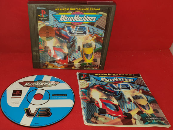 Micro Machines V3 Black Label Sony Playstation 1 (PS1) Game