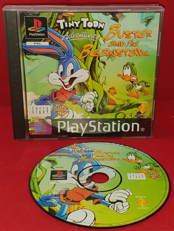 Tiny Toon Adventures Buster and the Beanstalk No Manual Sony Playstation 1 (PS1) Game