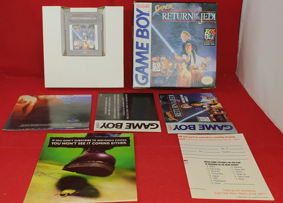 Super Star Wars Return of the Jedi Complete with Poster Nintendo Game Boy Game