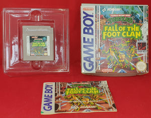 Teenage Mutant Hero Turtles Fall of the Foot Clan Nintendo Game Boy Game