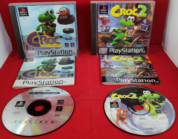 Croc 1 & 2 Sony Playstation 1 (PS1) Game Bundle