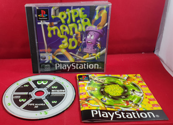 Pipe Mania 3D Sony Playstation 1 (PS1) Game