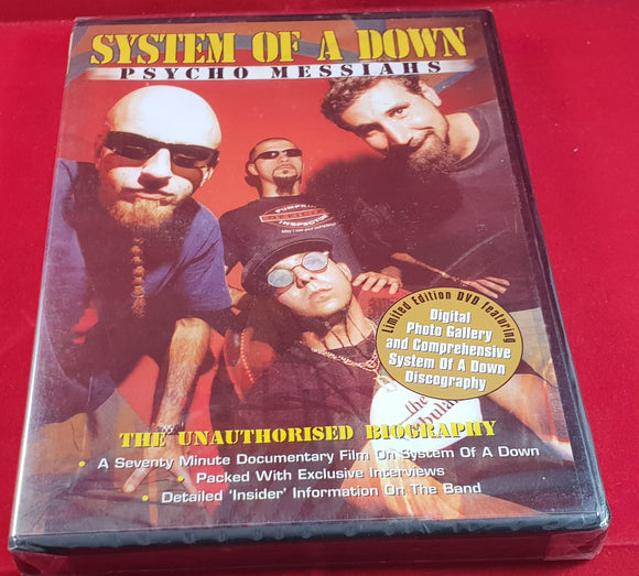 Brand New and Sealed System of a Down Psycho Messiahs DVD