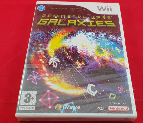 Brand New and Sealed Geometry Wars Galaxies Nintendo Wii Game