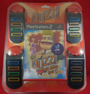 Boxed Buzz Controllers with Buzz the Music Quiz Sony Playstation 2 (PS2) Accessory