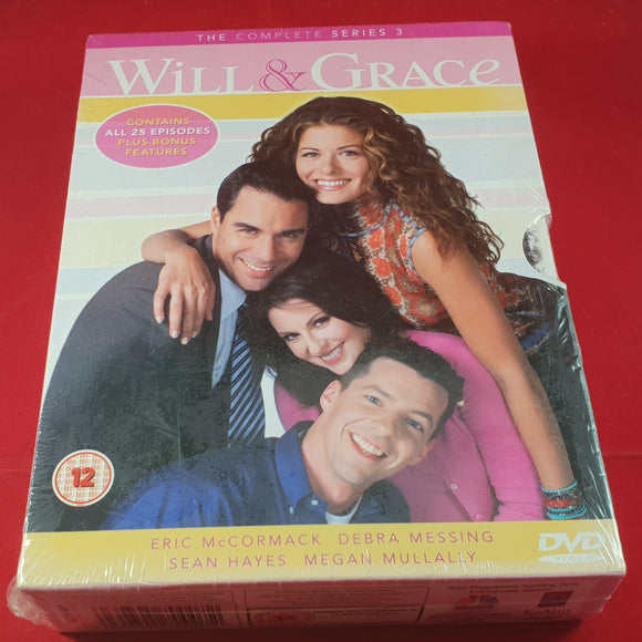 New & Sealed Will & Grace Season 3 Box Set DVD