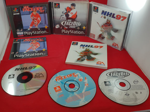 NHL Faceoff 97, 2000 & NHL 97 Sony Playstation 1 (PS1) Game Bundle