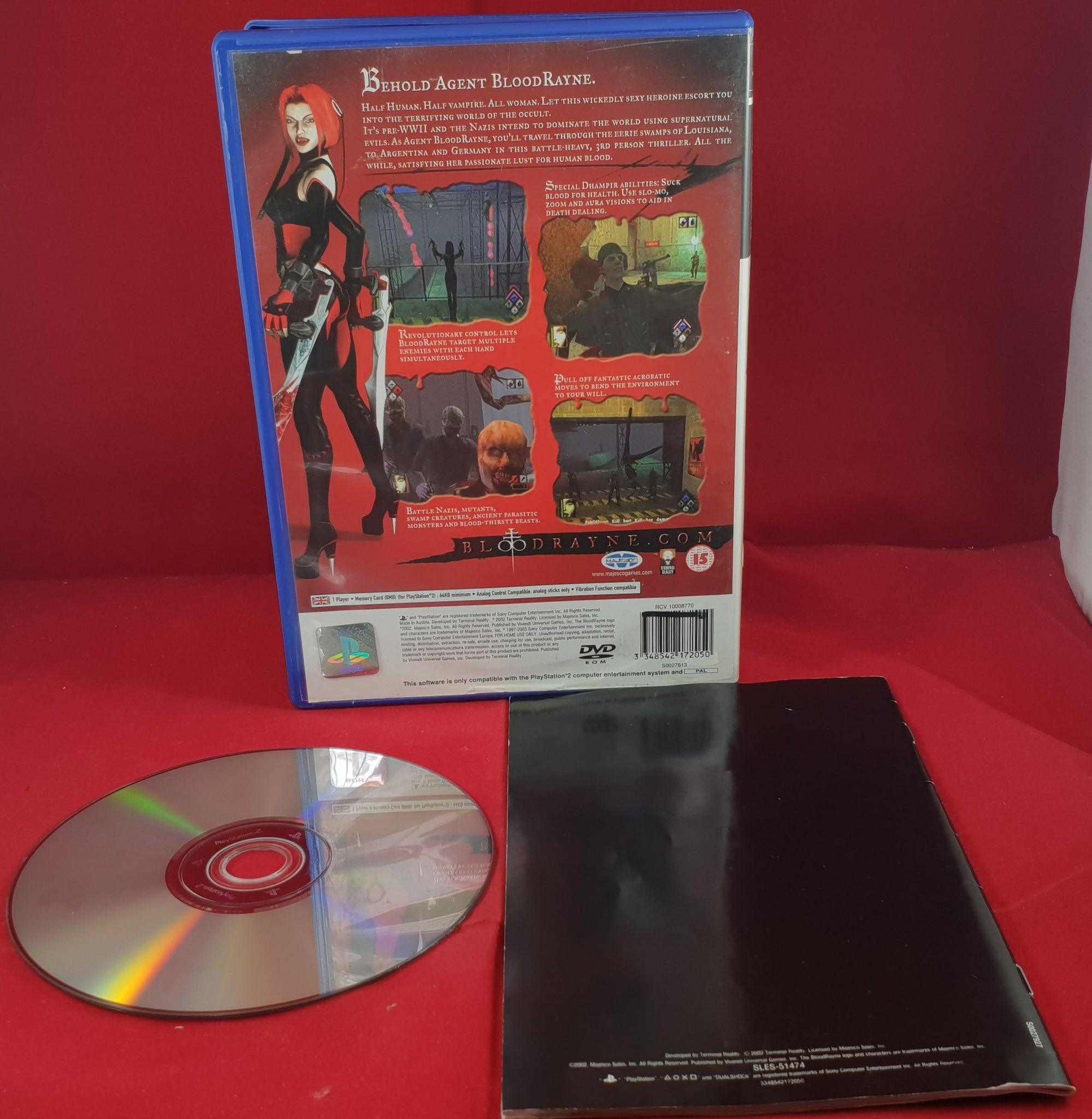 Bloodrayne Sony Playstation 2 Ps2 Game Retro Gamer Heaven