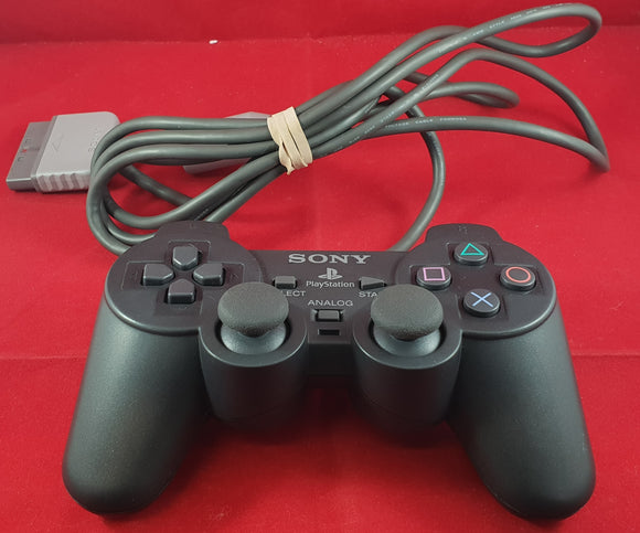 Black Official Sony Playstation 1 (PS1) Made in Korea Dual Shock Controller Accessory
