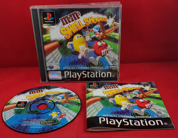 M&M's Shell Shocked Sony Playstation 1 (PS1) Game