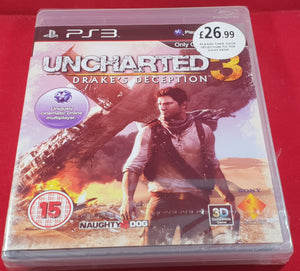 Uncharterd 3 Drakes Deception PS3 (Sony Playstation 3) NEW & SEALED game