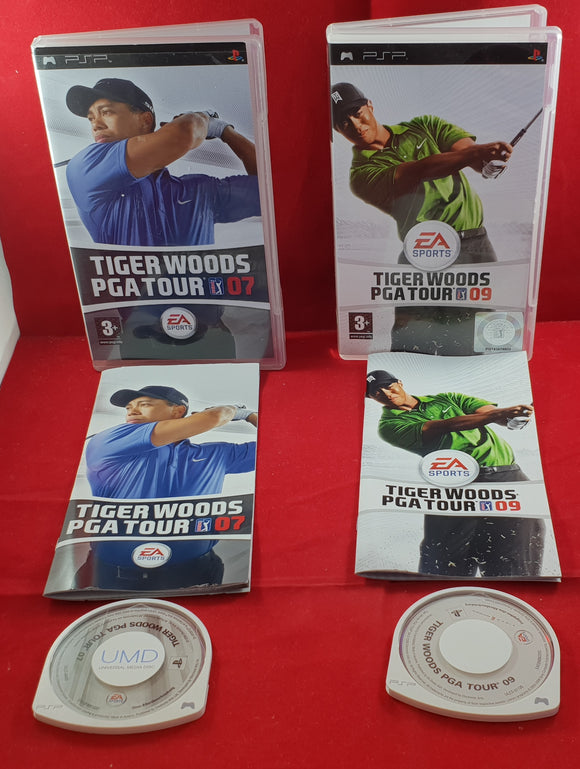Tiger Woods PGA Tour 07 & 09 Sony PSP Game Bundle