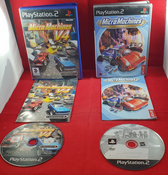 Micro Machines & Micro Machines V4 PS2 (Sony Playstation 2) game bundle