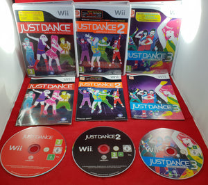 Just Dance 1, 2 & 3 Special Edition Nintendo Wii Game Bundle