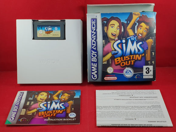 The Sims Bustin Out Nintendo Gameboy Advance Game
