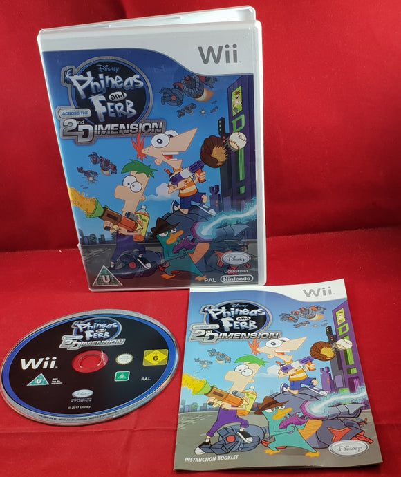 Phineas and Ferb Across the 2nd Dimension Nintendo Wii Game