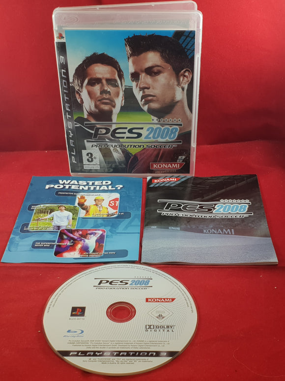 PES Pro Evolution Soccer 2008 Sony Playstation 3 (PS3) Game