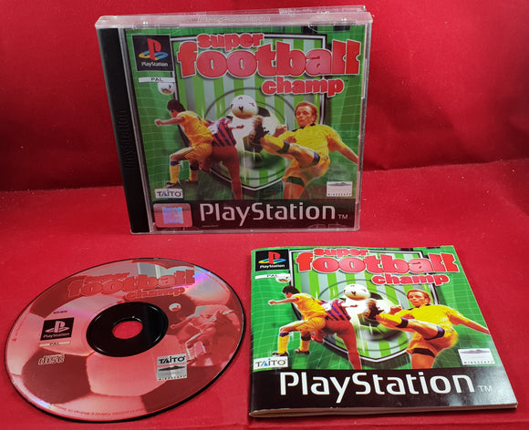 Super Football Champ Sony Playstation 1 (PS1) RARE Game
