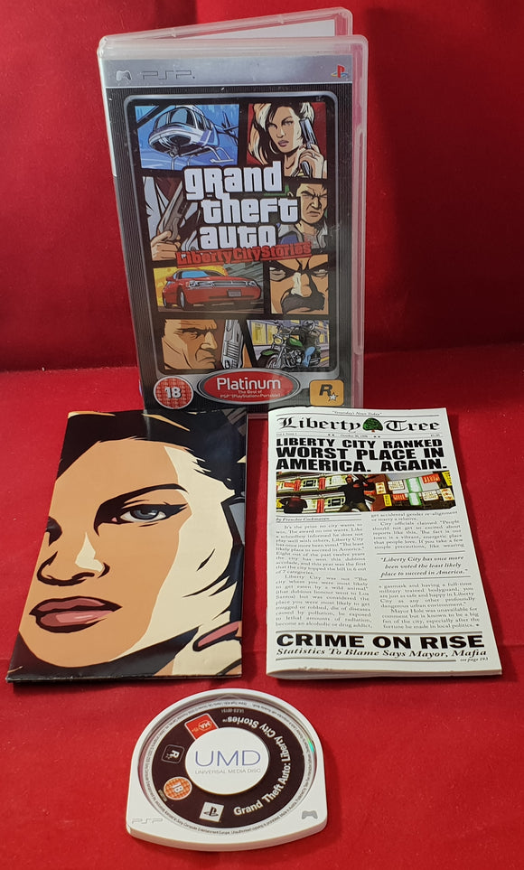 Grand Theft Auto Liberty City Stories Platinum with Map Sony PSP Game