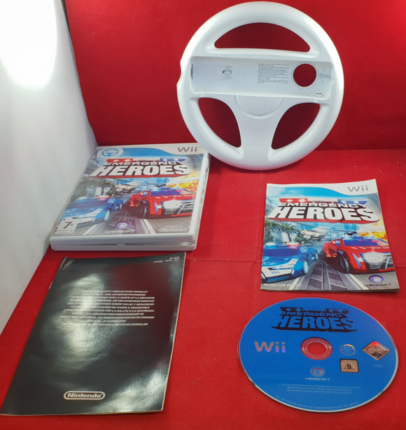 Emergency Heroes with Official Racing Wheel Nintendo Wii Game