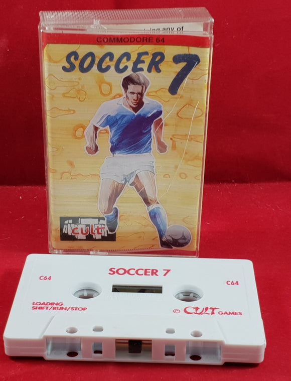 Soccer 7 Commodore 64 RARE Game