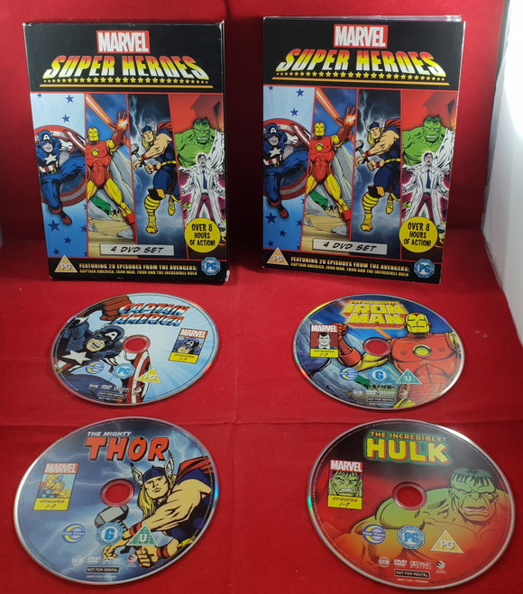 Marvel Super Heroes 4 DVD Set VERY RARE