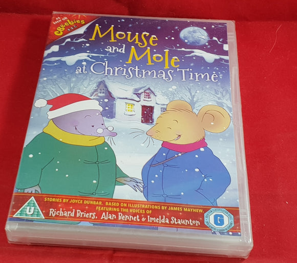 Brand New and Sealed Mouse and Mole at Christmas Time DVD