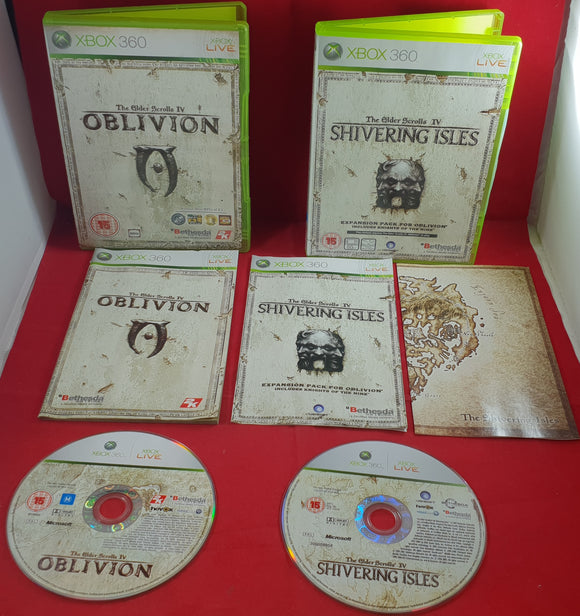The Elder Scrolls IV Oblivion & Shivering Isles Microsoft Xbox 360 Game Bundle