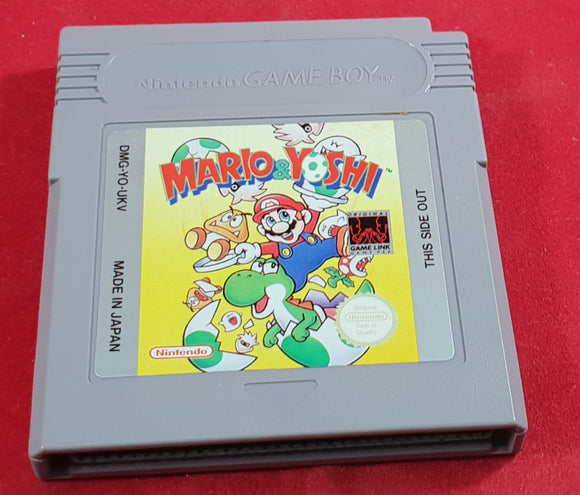 Mario & Yoshi Cartridge Only Nintendo Gameboy Game