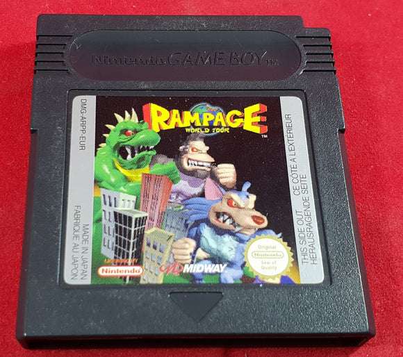 Rampage World Tour Cartridge Only Nintendo Game Boy Game
