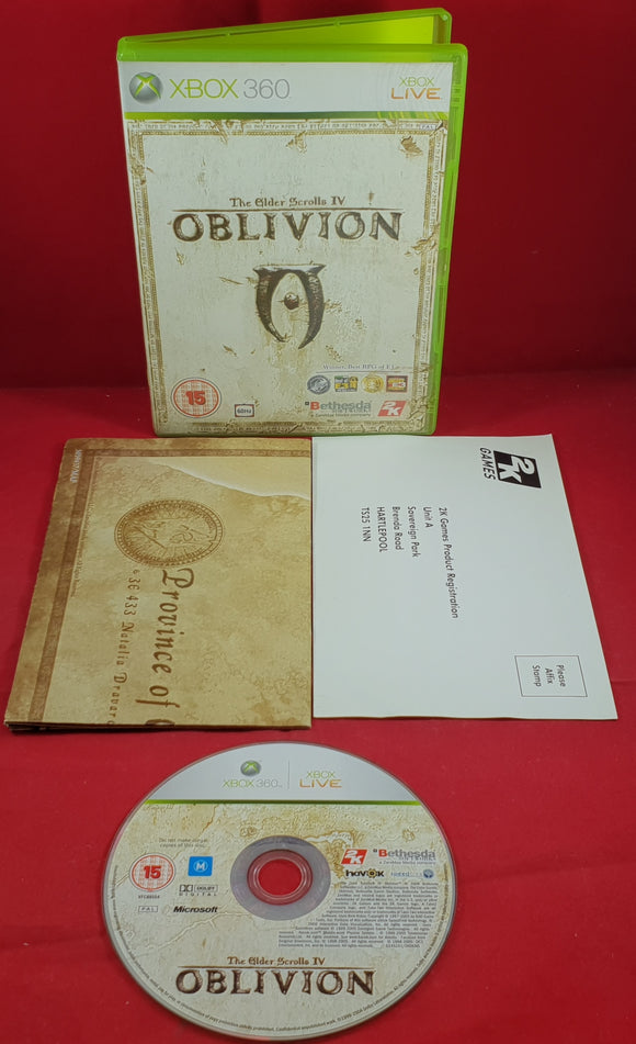 The Elder Scrolls IV Oblivion with Map Microsoft Xbox 360 Game