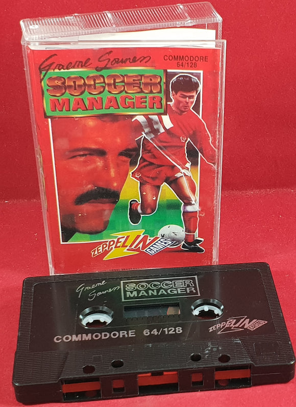 Graeme Souness Soccer Manager Commodore 64 RARE Game