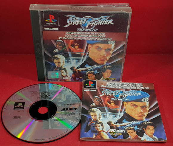 Street Fighter the Movie Sony Playstation 1 (PS1) Ultra RARE Game
