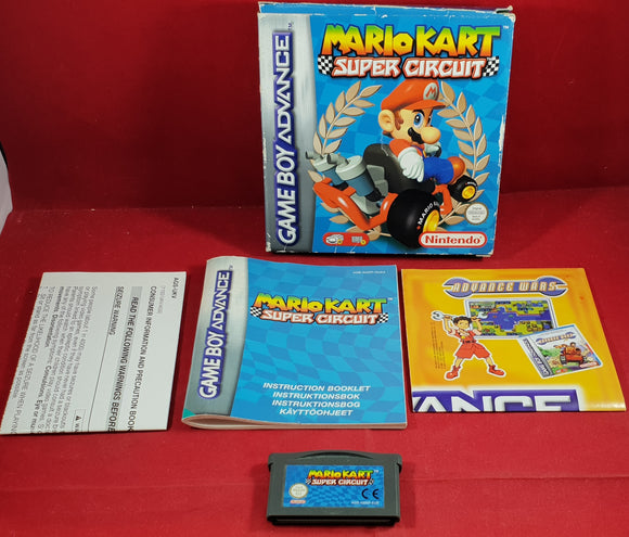 Mario Kart Super Circuit (Gameboy Advance) boxed game