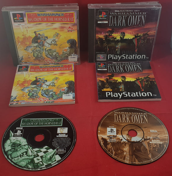 Warhammer Shadow of the Horned Rat & Dark Omen Sony Playstation 1 (PS1) Game Bundle
