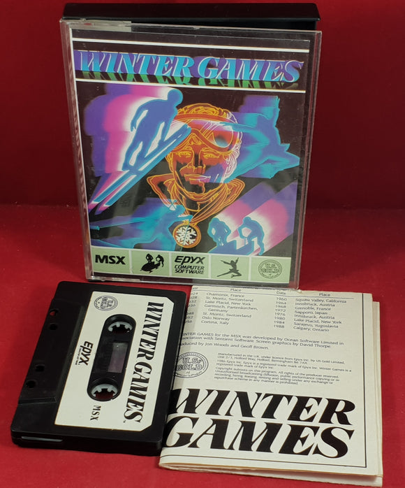 Winter Games MSX Game
