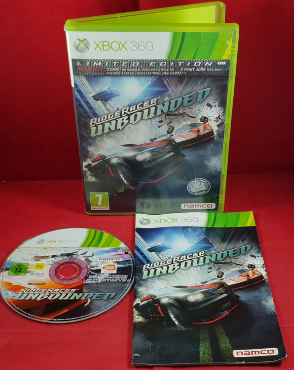 Ridge Racer Unbounded Limited Edition Microsoft Xbox 360 Game
