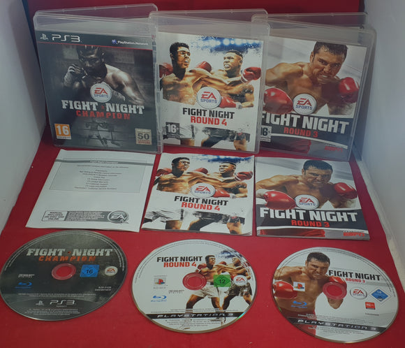 Fight Night Round 3, 4 & Champion Sony Playstation 3 (PS3) Game Bundle