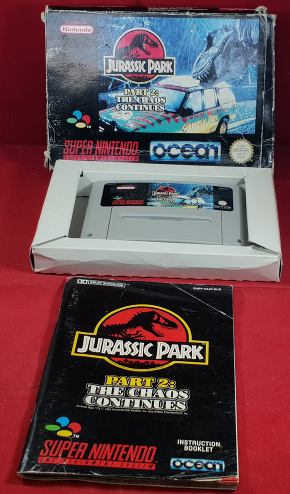Jurassic Park Part 2: The Chaos Continues Super Nintendo entertainment System (SNES) Game