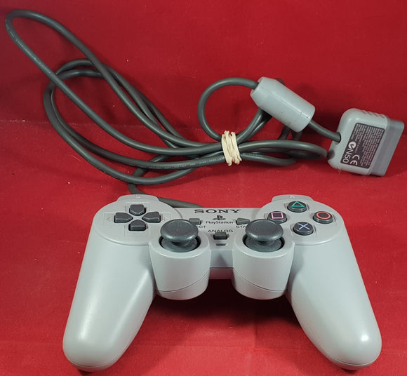 Sony Playstation 1 (PS1) Official Gray Dual Shock Controller Made in Japan Accessory